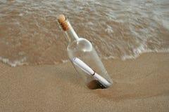 1 flaskmeddelande Arkivbilder