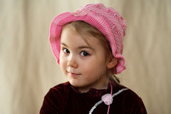 1 flicka little royaltyfria bilder