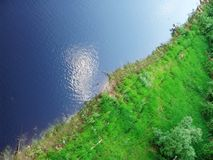 1 flodkust Arkivfoto