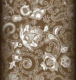 1 floral πρότυπο άνευ ραφής απεικόνιση αποθεμάτων
