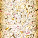 1 floral πρότυπο άνευ ραφής διανυσματική απεικόνιση