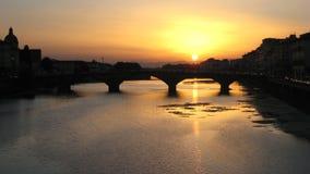 1 florence solnedgång Royaltyfri Bild