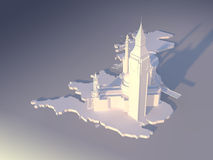 1 flyg- london vektor illustrationer