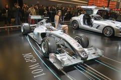 (1) formuły Mercedes mgp w01 Zdjęcie Royalty Free