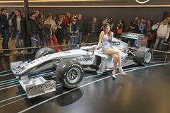(1) formuły Mercedes mgp w01 Obrazy Royalty Free