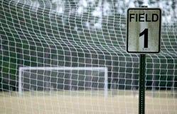 1 fotboll för färgfält Arkivbilder