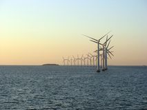 1 frånlands- windfarm Royaltyfri Foto