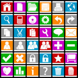 1 färgrika eps-symbolsrengöringsduk Arkivfoto