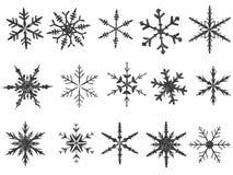 1 frostade snowflake för element vektor illustrationer