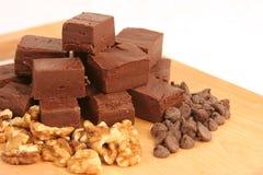 1 fudge шоколада домодельный Стоковое Изображение RF
