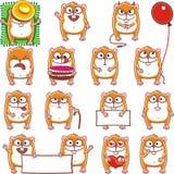 1 funny hamsters διανυσματική απεικόνιση