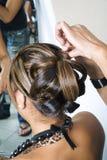1 gör invecklat hår fotografering för bildbyråer