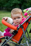 1 gammala år för barnvagnflicka Royaltyfria Bilder