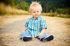 1 gammala år för pojke Fotografering för Bildbyråer