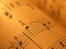1 gammala ark för musik Arkivbilder