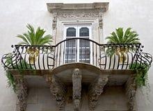 1 gammala balkong Fotografering för Bildbyråer