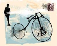 1 gammala cykel Royaltyfri Bild