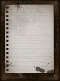 1 gammala papper Arkivfoton