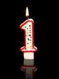 1. Geburtstag Lizenzfreie Stockbilder