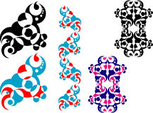 1 geometriska abstrakt design Royaltyfri Foto