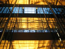 1 glass interior för byggnad Royaltyfria Bilder