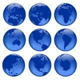 1 globe poglądów Obrazy Stock