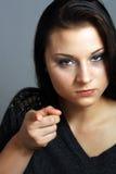 (1) gniewna piękna brunetka Zdjęcie Stock
