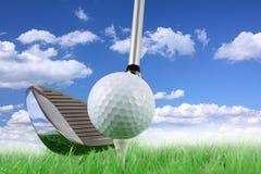 1 golfswing Royaltyfri Foto
