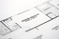 1 golvplan Fotografering för Bildbyråer