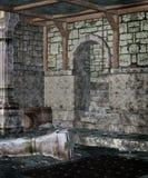 1 gotiska dungeon Arkivbilder
