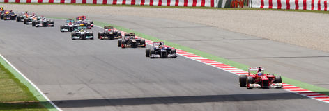 1 Grand Prix ισπανικά τύπου Στοκ Φωτογραφίες