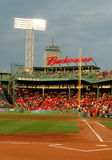 1. Grundlinie Fenway Park Boston, MA Stockbild