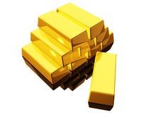 1 guld Arkivbild