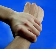 1 händer två Arkivbild