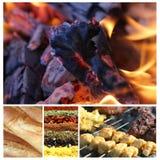 1 härliga collage för grillfest fotografering för bildbyråer