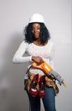 1 härliga konstruktionskvinnligarbetare Royaltyfria Bilder