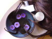 1 hårbehandling Fotografering för Bildbyråer