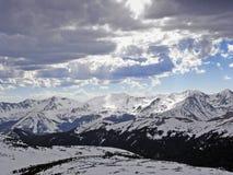 1 höga bergvinter Arkivfoto