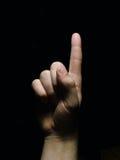 1 hand royaltyfri bild