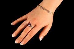 1 hand royaltyfria foton