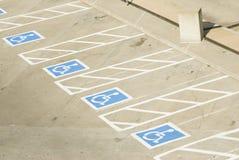 1 handikappparkering Royaltyfri Bild