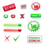 (1) handlu e ikon część Fotografia Stock