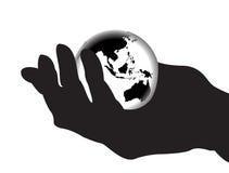 1 hands min hela värld Arkivfoton