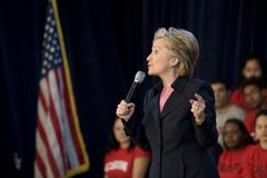 1 Клинтон hillary Стоковое Изображение RF