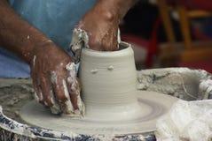 1 hjul för keramiker s Royaltyfria Bilder