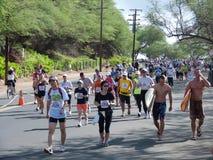 1 honolulu maraton Arkivbilder