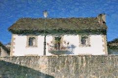 1 hus ingen reflexion Royaltyfria Bilder