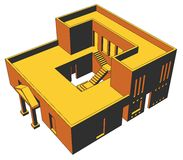 1 husperspektiv Arkivbild