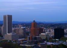 1 i stadens centrum panorama portland arkivfoto