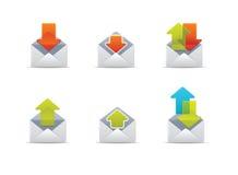 (1) ikon poczta qicon Zdjęcia Stock
